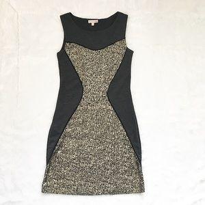 Like New Gianni Bini Gold Sparkle Sequin Dress